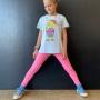Calça Legging Infantil Chiclete