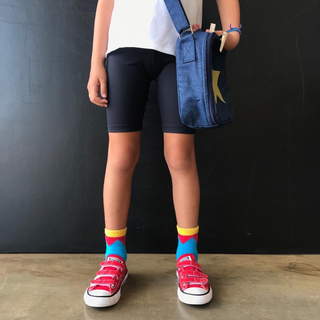 Bermuda Ciclista Infantil Preta