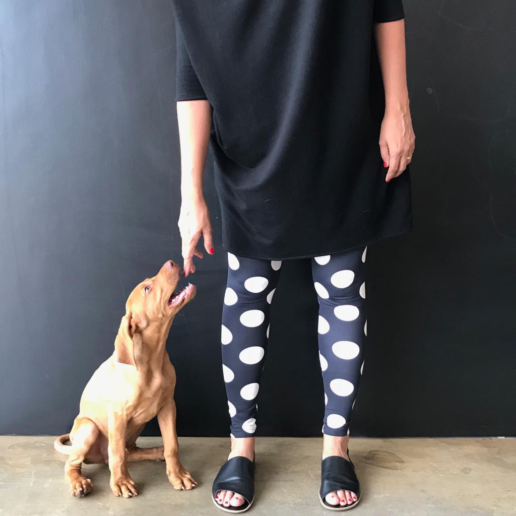 Calça Legging Adulto Básica Estampada Bola