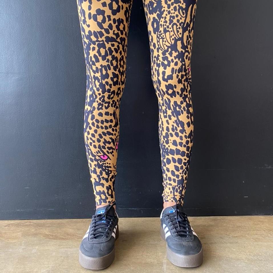 Calça Legging Adulto Básica Estampada Onça Zóio