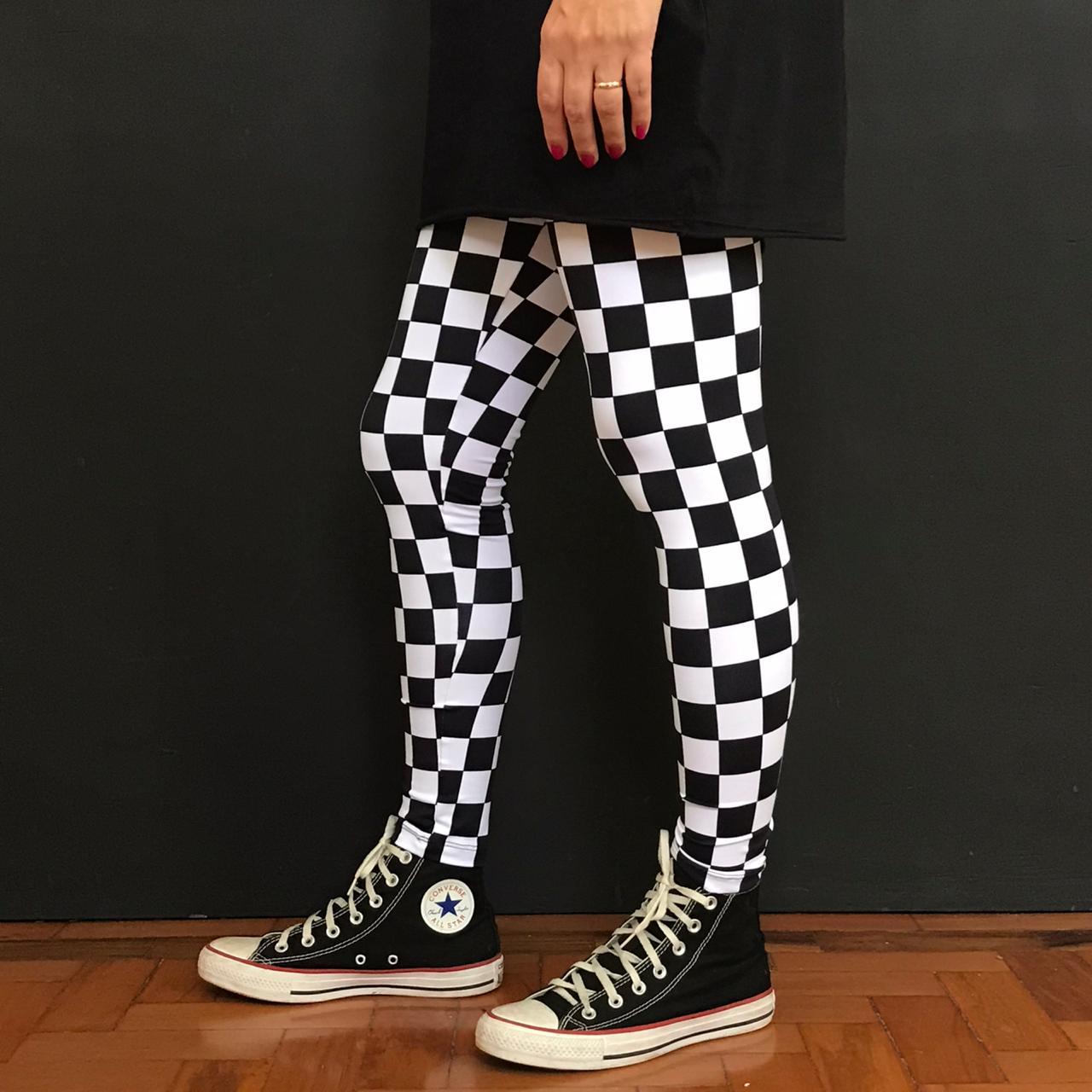 Calça Legging Adulto Básica Estampada Skate
