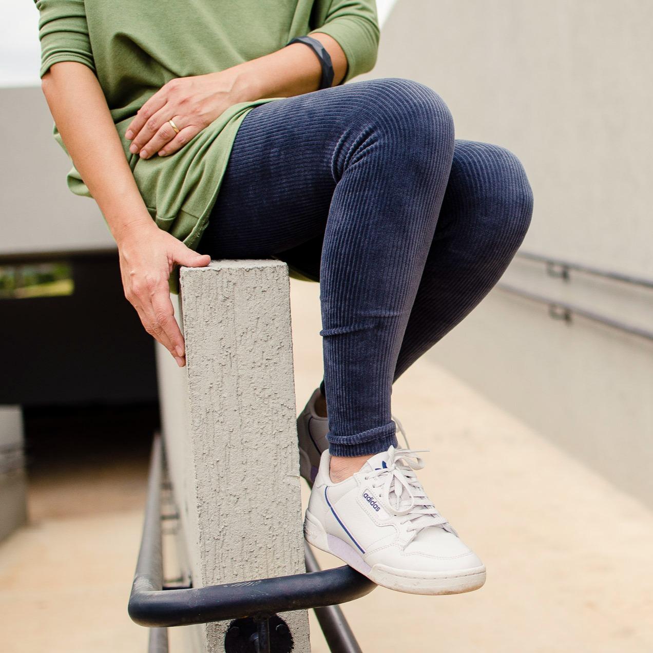 Calça Legging Adulto Básica Veludo Cinza