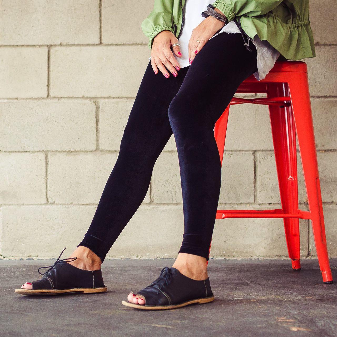 Calça Legging Adulto Básica Veludo Preta