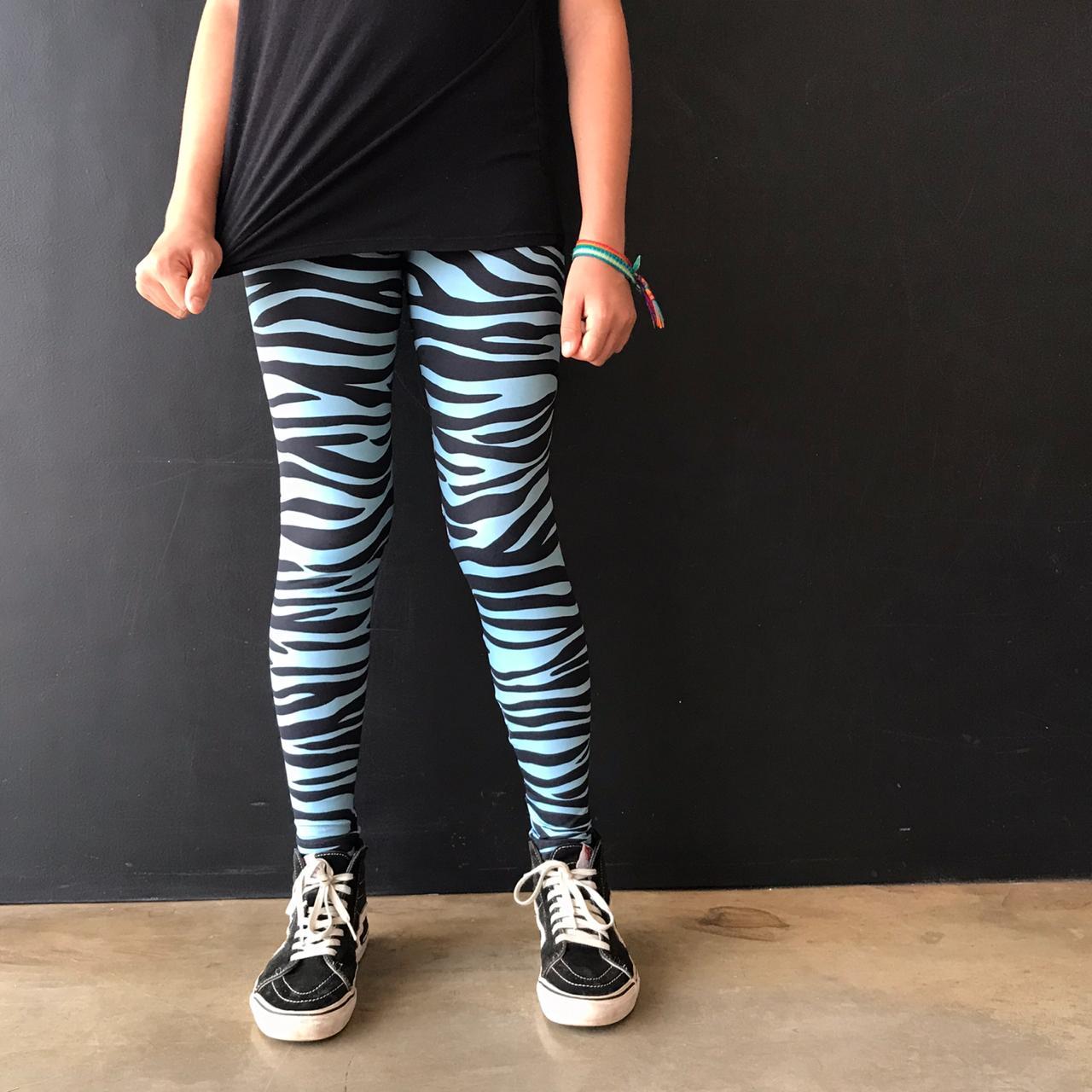 Calça Legging Adulto Cintura Alta Estampada Zebra