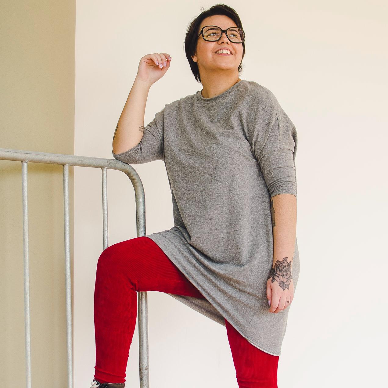 Calça Legging Adulto Cintura Alta Veludo Carmim