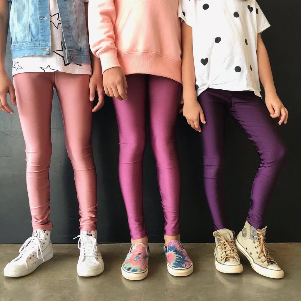 Calça Legging Infantil Brilhante Amora