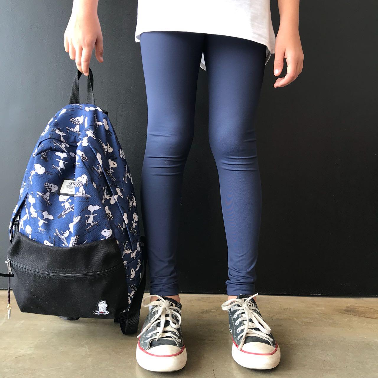 Calça Legging Infantil Escolar Azul Marinho