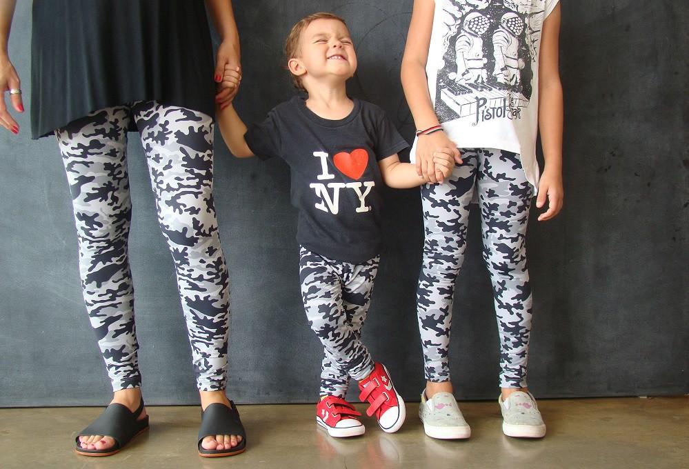 Calça Legging Infantil Estampa Camuflada