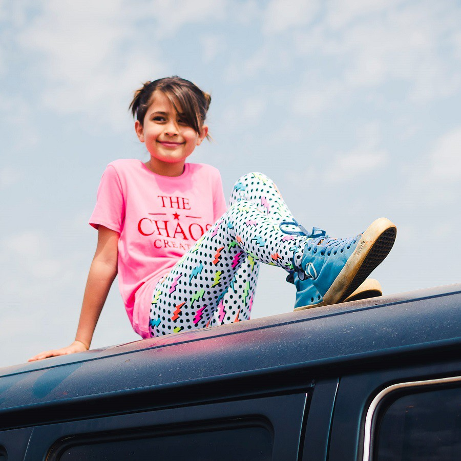 Calça Legging Infantil Estampada Elétrica