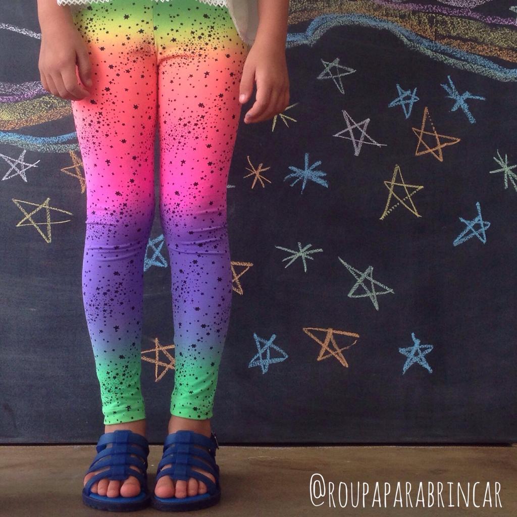 Calça Legging Infantil Estampada Estrela