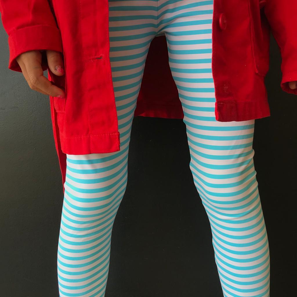 Calça Legging Infantil Estampada Listradinho