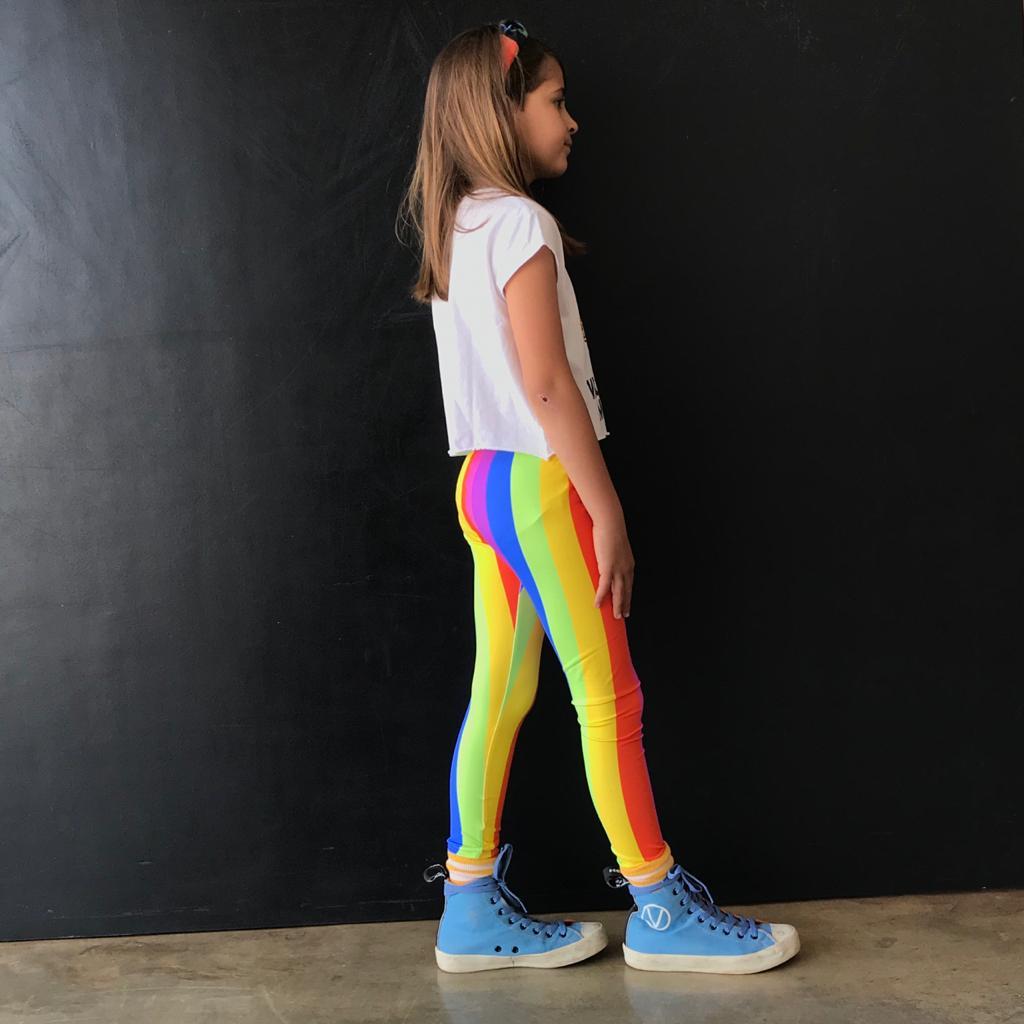 Calça Legging Infantil Estampada Listrado TV