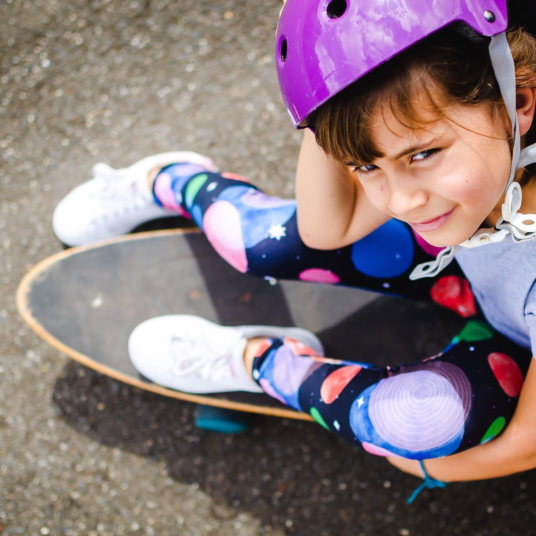 Calça Legging Infantil Estampada Planeta