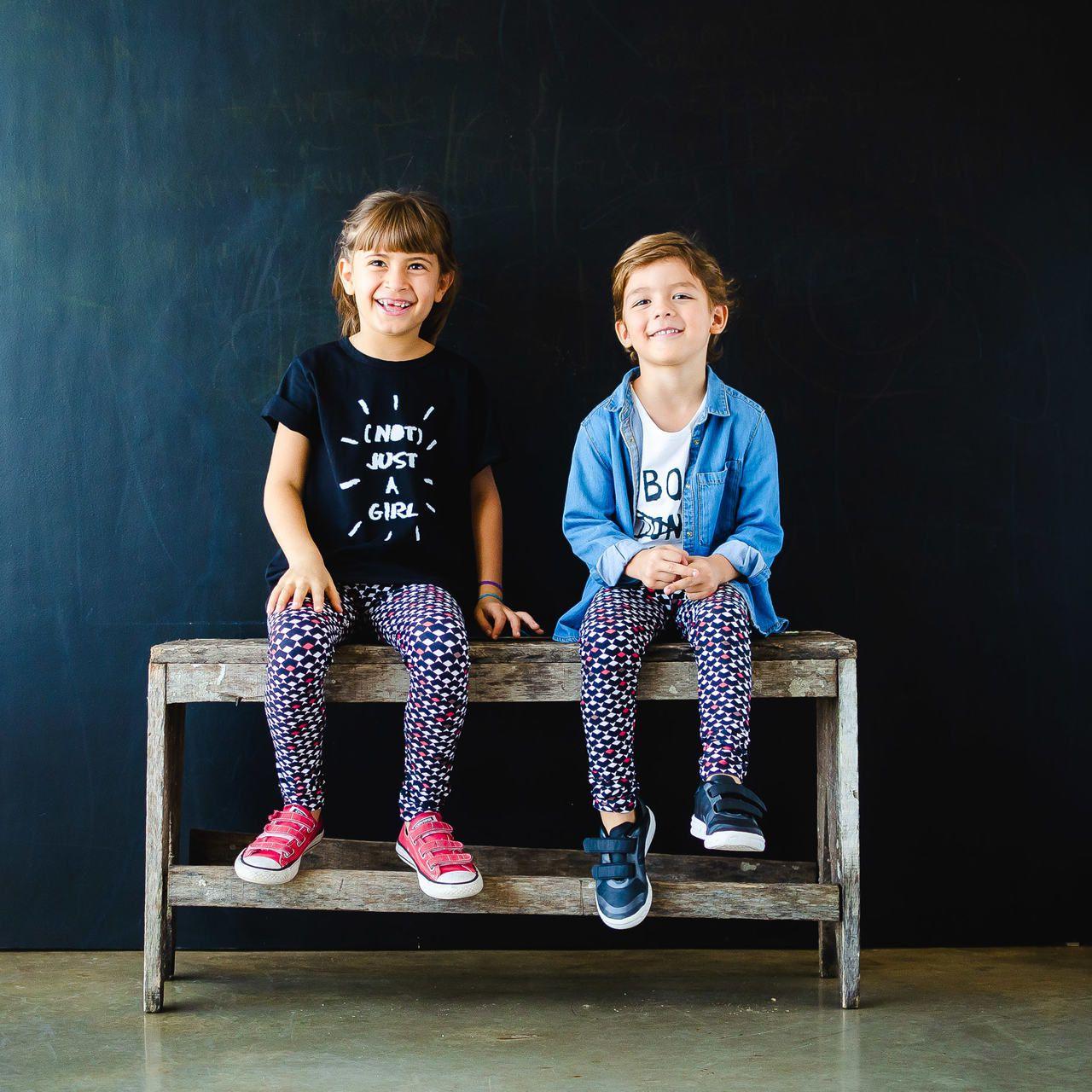 Calça Legging Infantil Estampada Retrô