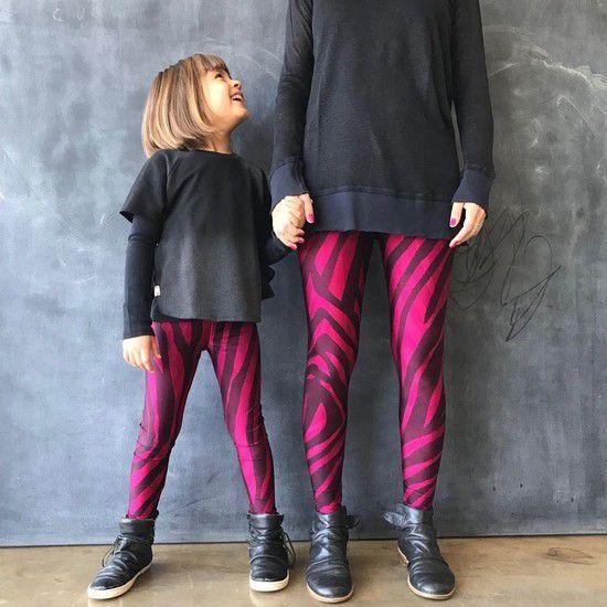 Calça Legging Infantil Estampada Vinho