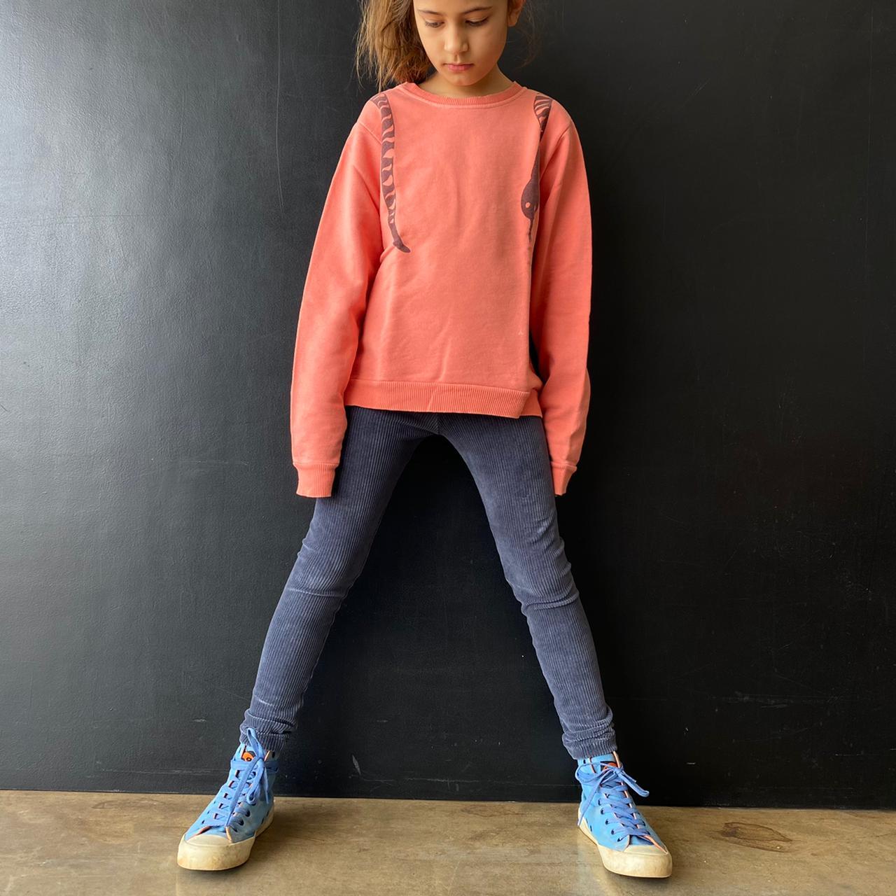 Calça Legging Infantil Veludo Cinza