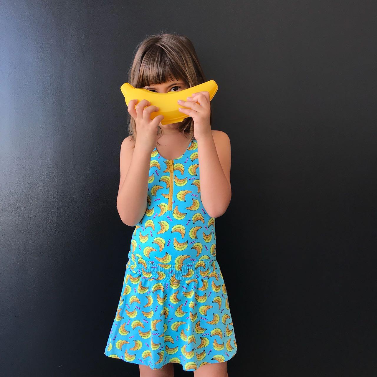 Maiô Surf Infantil Banana com Zíper