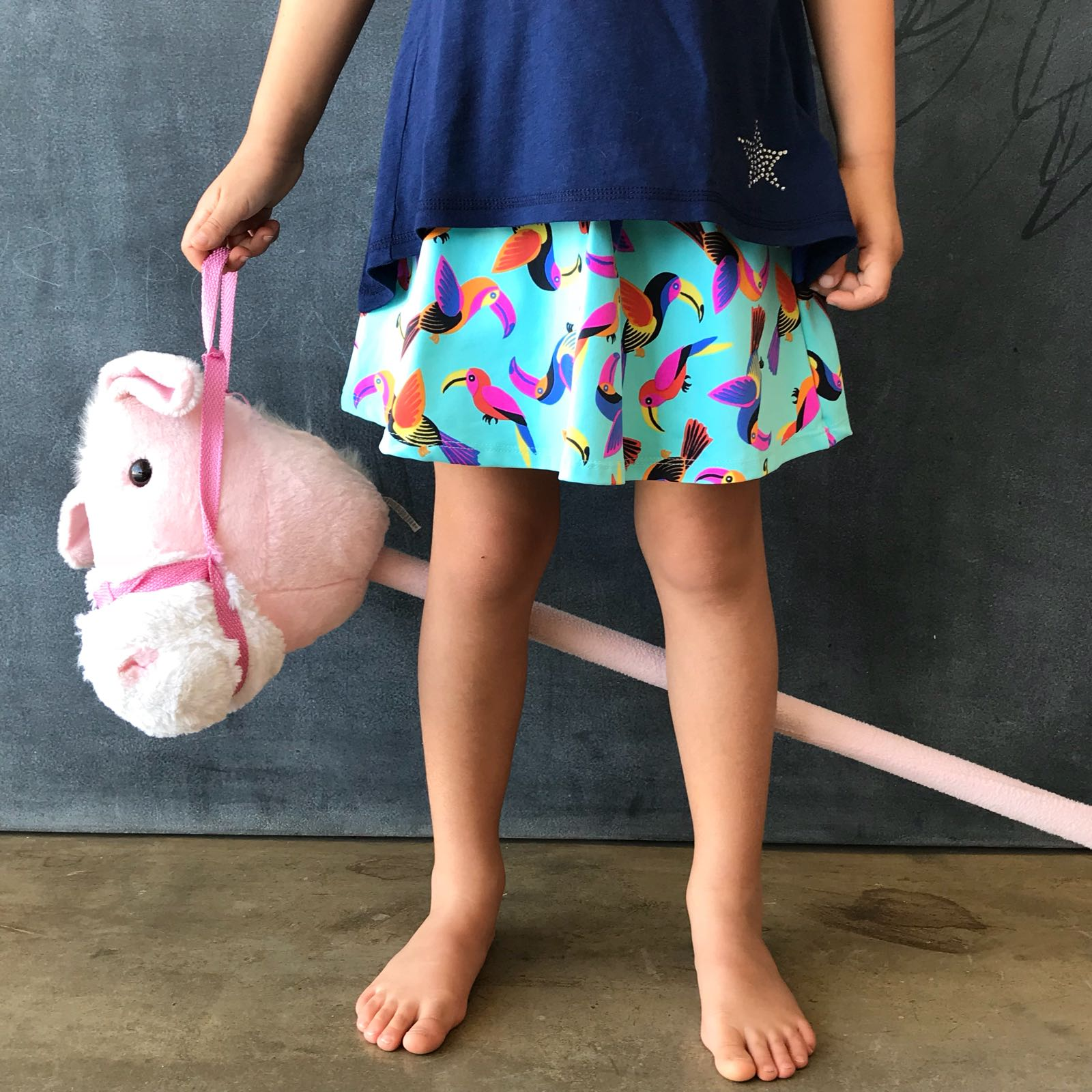 Short Saia Estampado Tucano