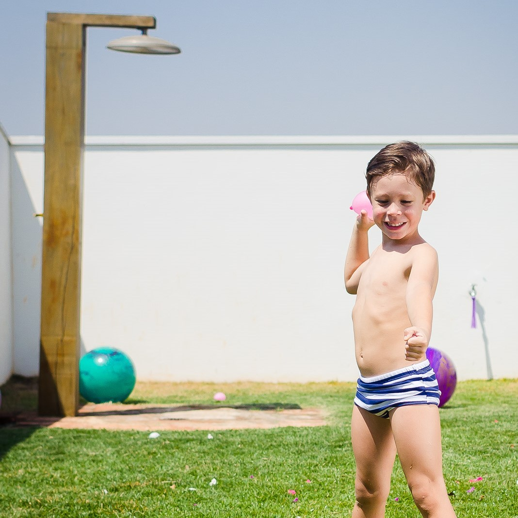 Sunga Infantil Estampada Listra Azul