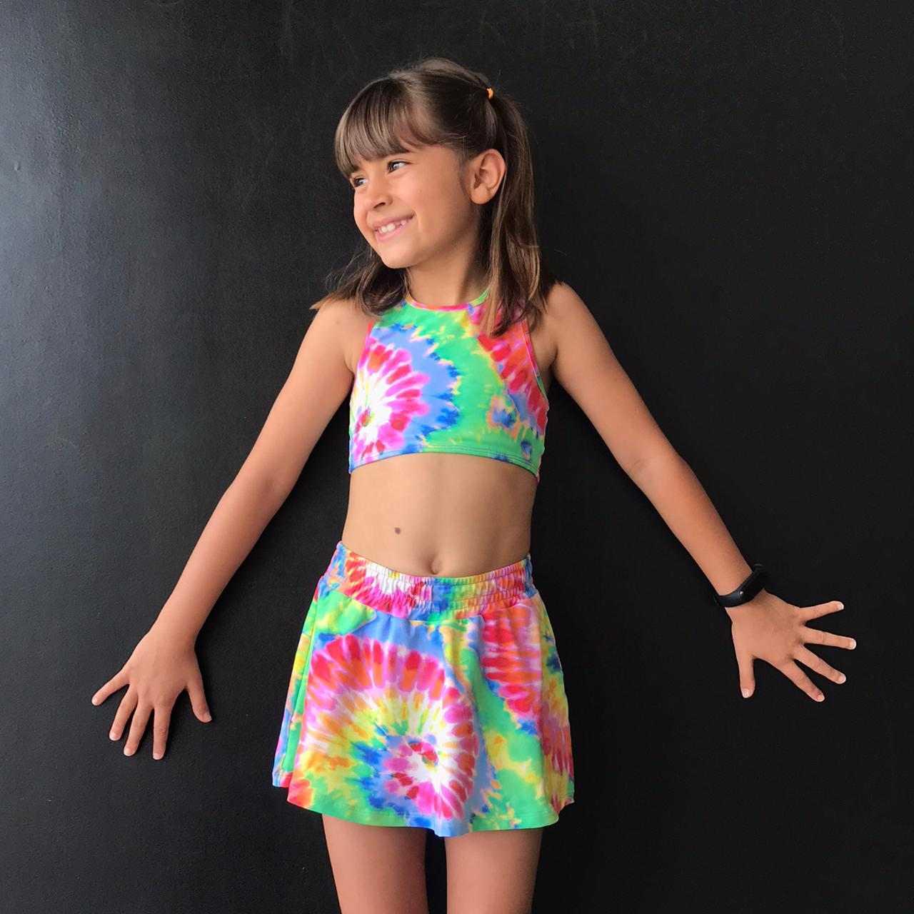 Sunquini Infantil Estampado Tie Dye