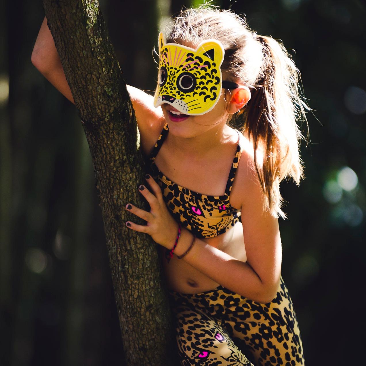 Top Infantil Estampado Onça Zóio
