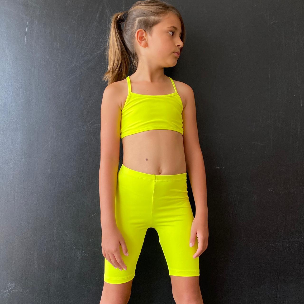 Top Infantil Neon Marca Texto Amarelo