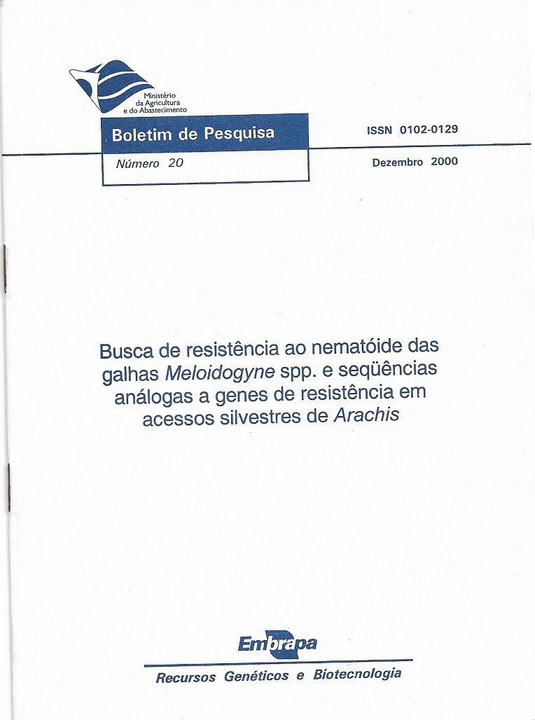 Busca de Resistência ao Nematóide das Galhas Meloidogyne spp