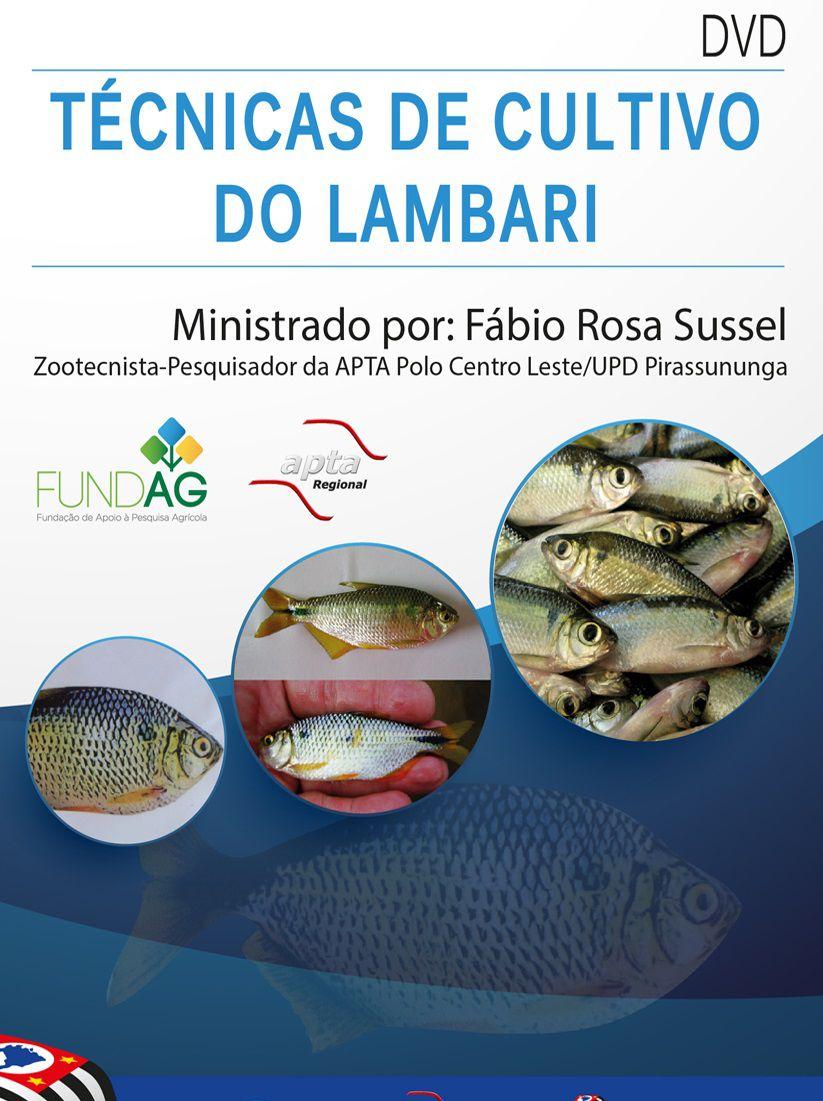 DVD - Técnicas de Cultivo do Lambari