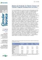 Sistema de Produção do Feijoeiro Comum em Várzeas Tropicais - Estabelecimento da Cultura