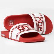 Chinelo Vermelho e Branco