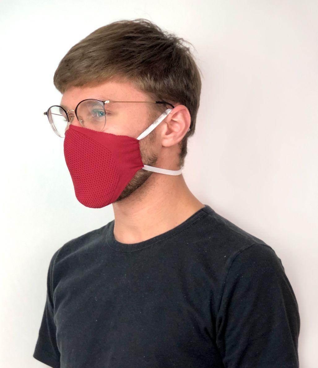 Máscara reutilizável dupla com elástico