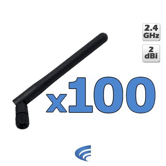 100 unidades Antena Omni 2 dBi 2.4 GHz  - ComputechLoja