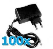 100 unidades Fonte de Alimentação 12V 500mA