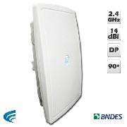 Antena Xwave 2414SDP - Painel Setorial 2.4 Ghz 90º - DP