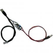 Conversor DC/DC com cabo Ethernet 10/100Mbps 24VDC para 5VDC ou 12VDC