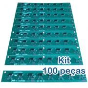 Kit 100 Placas PoE Reverso para Switch Intelbras Sf800q+ e Re115 com diodos