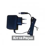 Kit 10 peças - Fonte de Alimentação 12V 500mA