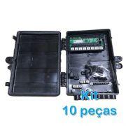 Kit 10 peças - Xwave PobreNet PAC Switch 8 Portas Fast Ethernet 12 - 48V