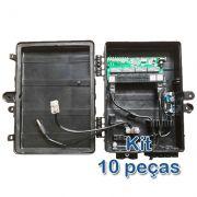 Kit 10 peças - Xwave PobreNet PAC Switch 8 Portas FE com Conversor DC/DC