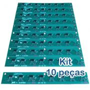 Kit 10 Placas PoE Reverso para Switch Intelbras Sf800q+ e Re115 com diodos