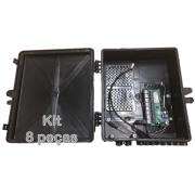 Kit 8 peças -  Xwave PobreNet PAC Switch 8 FE com Conversor DC/DC - Caixa Grande 12 - 48V