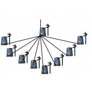 Kit Projeto Turn Key FTTH Balanceado 8x8 64 Portas