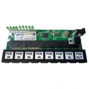 Placa PCBA Xwave PobreNet PAC Switch 8 Portas Fast Ethernet 12 - 48V
