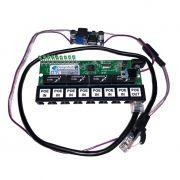 Placa PCBA Xwave PobreNet PAC Switch 8 Portas Fast Ethernet + Conversor DC/DC 12 - 48V