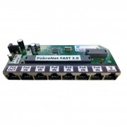 Placa Xwave PobreNet 2.0 PAC Switch 8 Portas Fast Ethernet Chave VLAN-BRIDGE 12 - 48V - PCBA