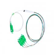 Splitter Óptico 1x4 Balanceado Conectorizado SC-APC FTTH