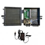 Switch Xwave MegaPoE FAST com Fonte 12V 2,5A e Caixa Hermética Preta para CFTV