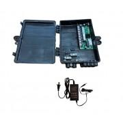 Switch Xwave MegaPoE GIGA com Fonte 12V 2,5A e Caixa Hermética Preta para CFTV