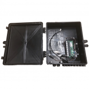 Xwave PobreNet PAC Switch 8 Portas Fast Ethernet com Conversor DC/DC - Caixa Grande 12 - 48V