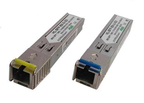 Par de Módulos SFP - Mini-GBIC - SC-PC (para conector azul) até 3 Km  - ComputechLoja